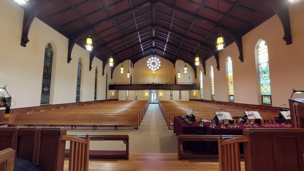 View of the sanctuary from the altar